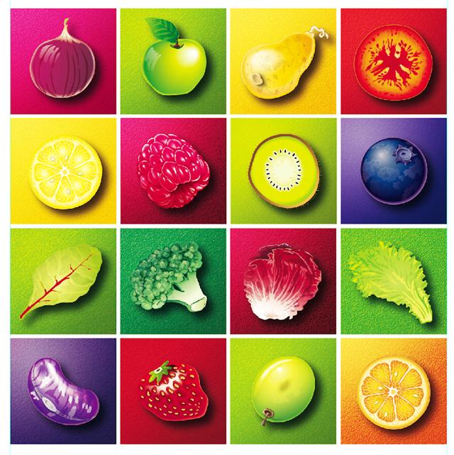 fruitvegcolorposter
